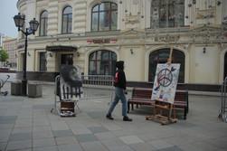 Необычный эксперимент современной художницы на Лубянской площади