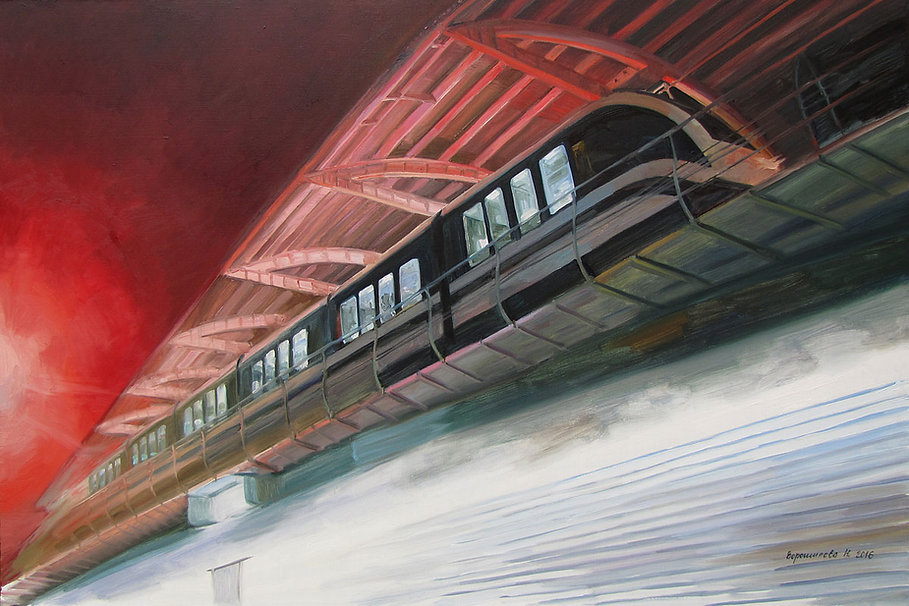 Monorail. 2016, 100x150 cm, oil on canva
