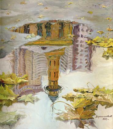 Reflection. Sokolniki,80x70 cm, 2013