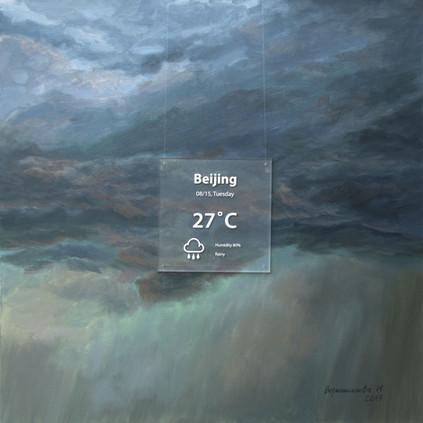 Beijing. 2017, 80x80 cm, oil on canva