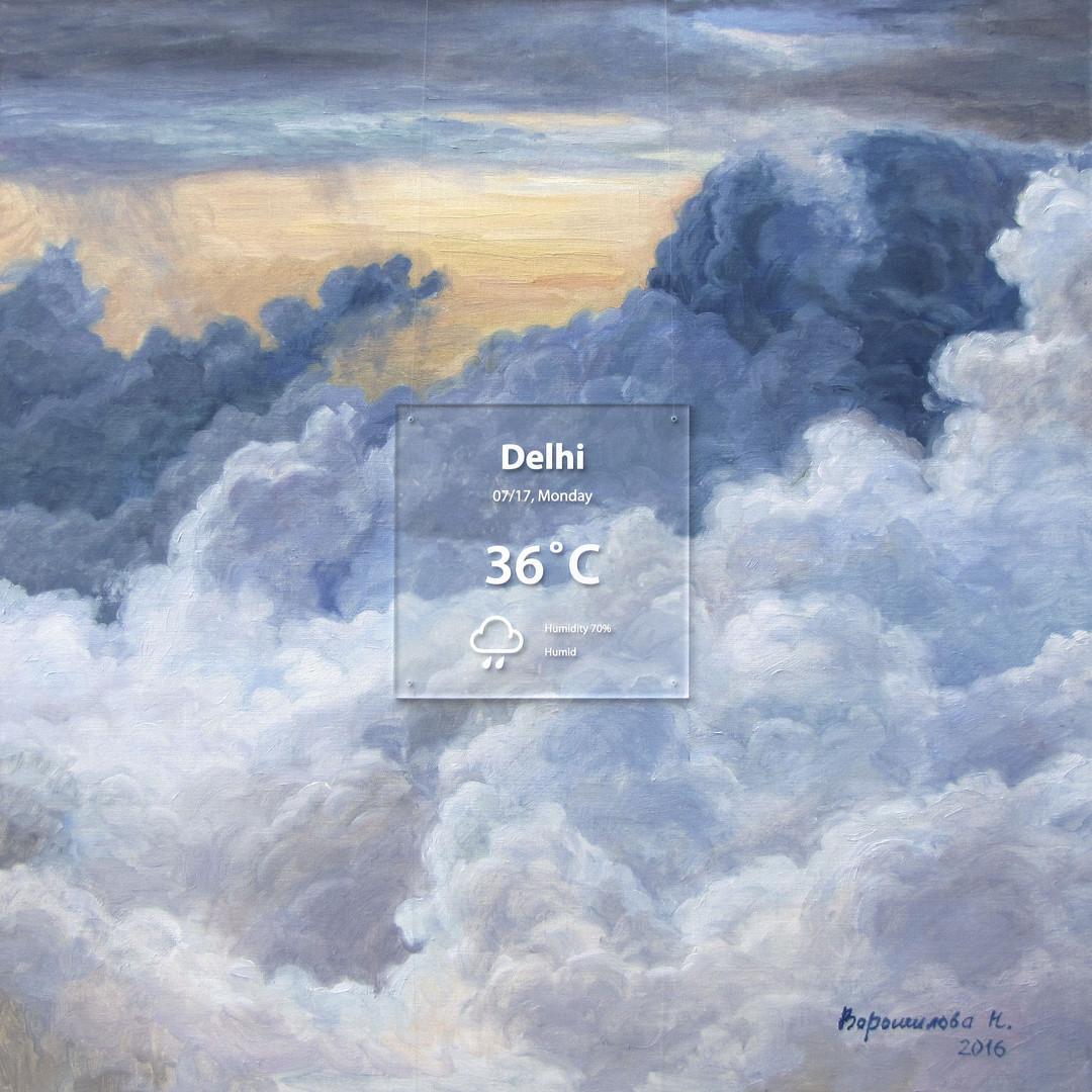 Delhi. 2016, 80x80 cm, oil on canvas,