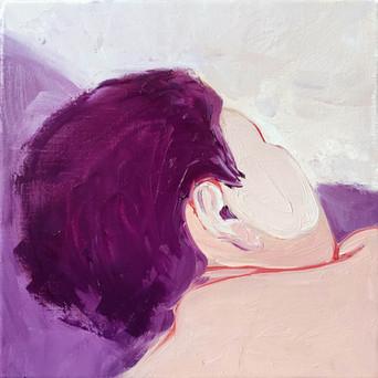 "Maria Kostareva, ""Sleeping 1"", 20x20 cm, 2020"