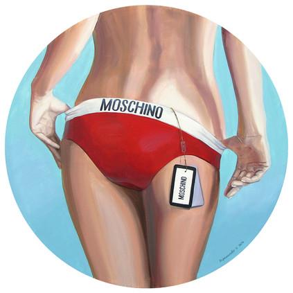 Moschino, 80x80 cm, 2018
