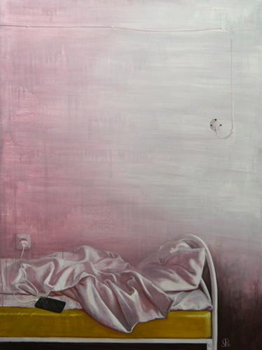 """Полина Синяткина, """"Спальня"""", 160х110 см, темпера, 2018"""