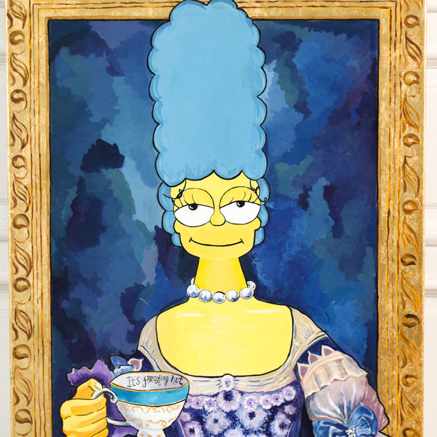 "Freakin hot art by Katrin, ""Marge Antoinette-Simpson"", 2019"