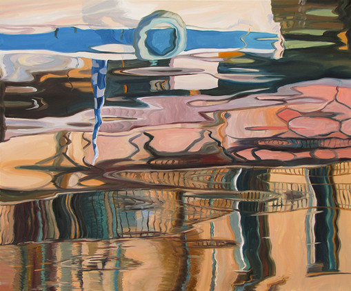 Reflection. Naples pink, 100x12 cm, 2020