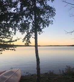 Solnedgång över Orrmosjön