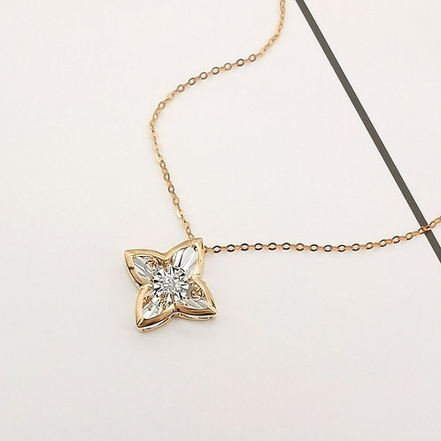 Star Dancing Diamond Pendant in 18K Solid Gold Necklace