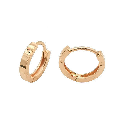 18K Solid Gold Huggie Earrings