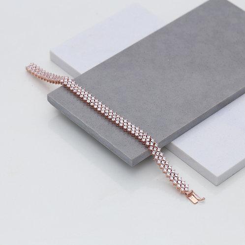 Tennis Bracelet 925 Sterling Silver Handmade