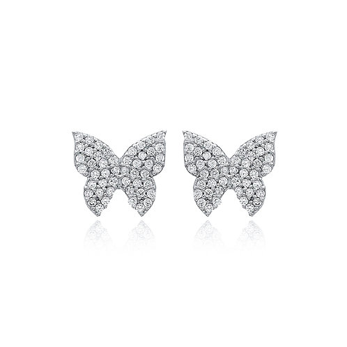 Butterfly Shape 925 Sterling Silver Handmade Earrings
