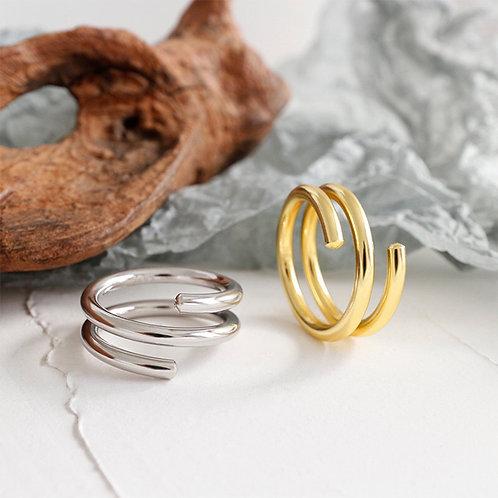 Spiral Ring 925 Sterling Silver