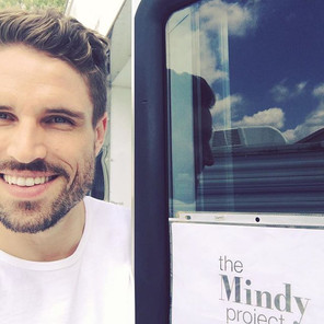 James O'Halloran on set for 'The Mindy Project'