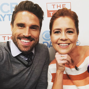 Jenna Fischer and James O'Halloran on 'The Talk' CBS