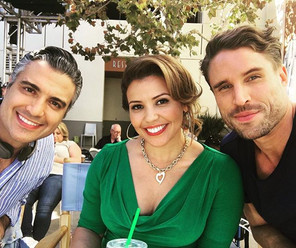 On set filming 'Jane the Virgin'