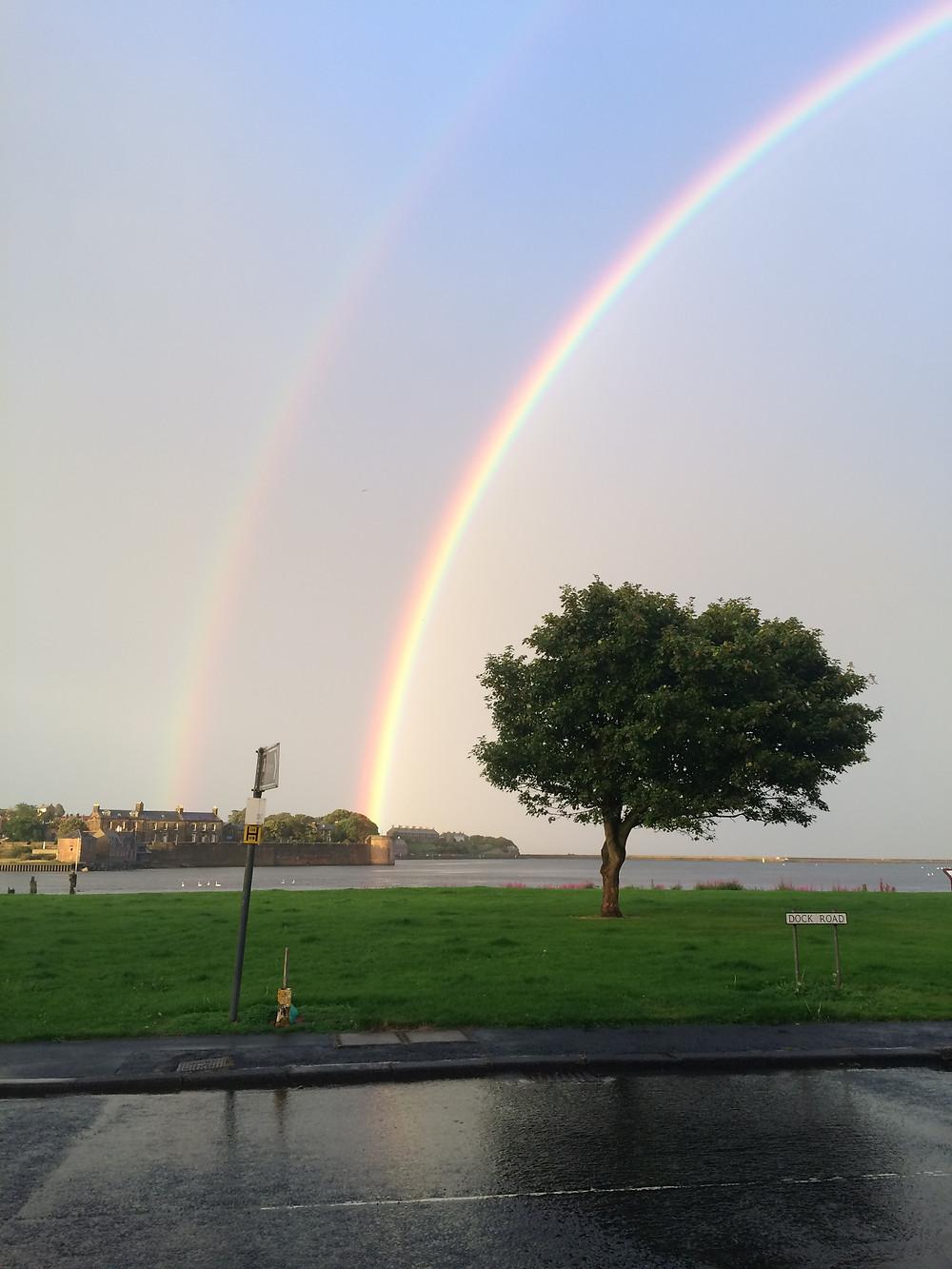 Rainbow over Rainy Berwick