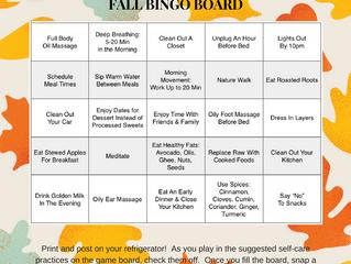 Seasonal Self-Care Bingo Board - Join the Nourishing Fun & Be Entered to Win a Prize!