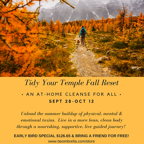 Tidy Your Temple - Fall 2020 Detox