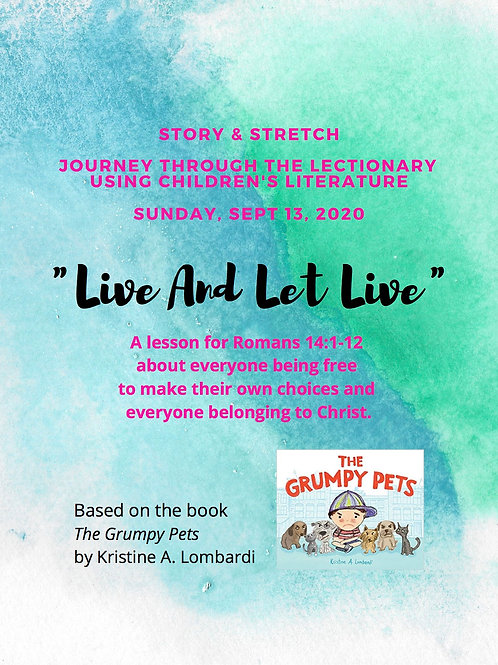 """Live And Let Live"": A Story & Stretch Lesson Plan for Sept 13"