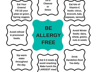 Avoid Allergies - 8 Tips from Ayurveda