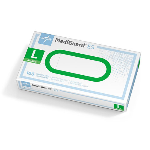 Mediguard ES - Nitrile, Powder-free exam gloves (100 per box)