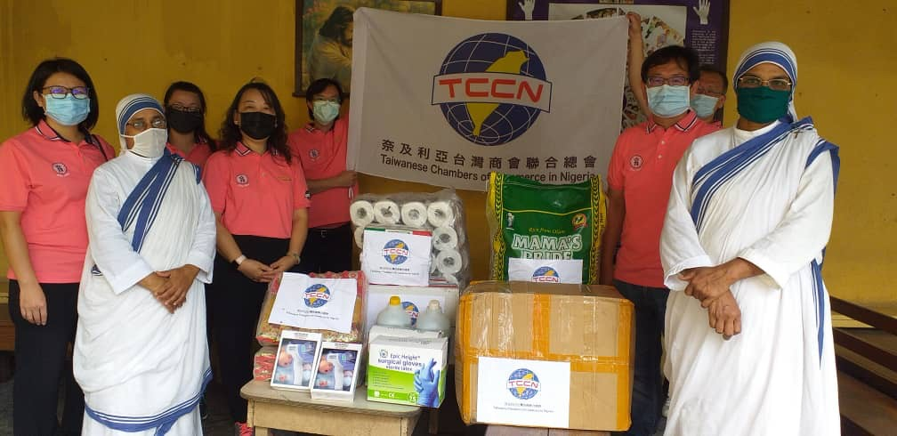 200705 奈及利亞台商會捐贈防疫物資和日常食物給 Missionaries