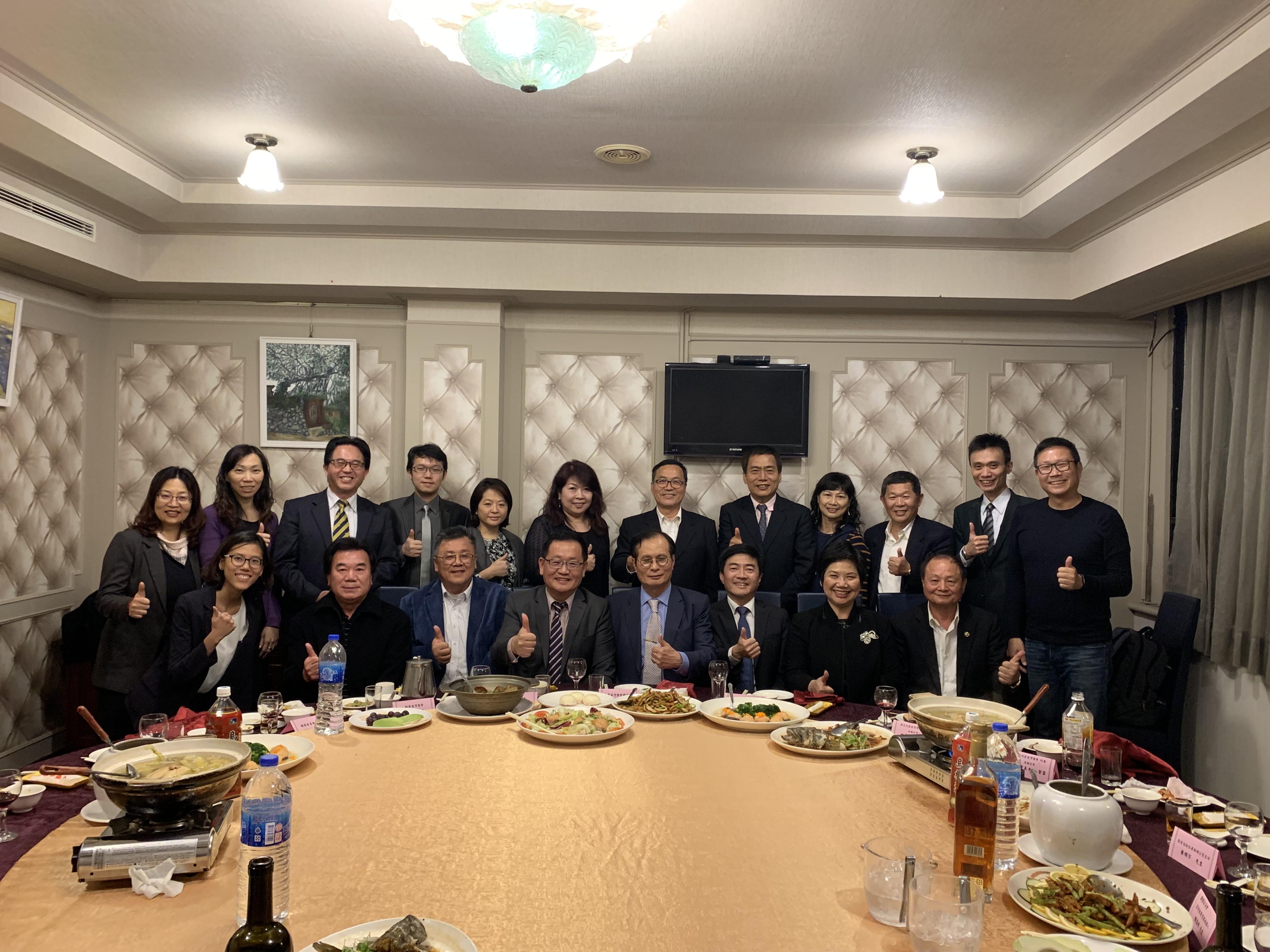 2019.12 在台歡迎剛果台商會籌備處楊文裕會長加入非總