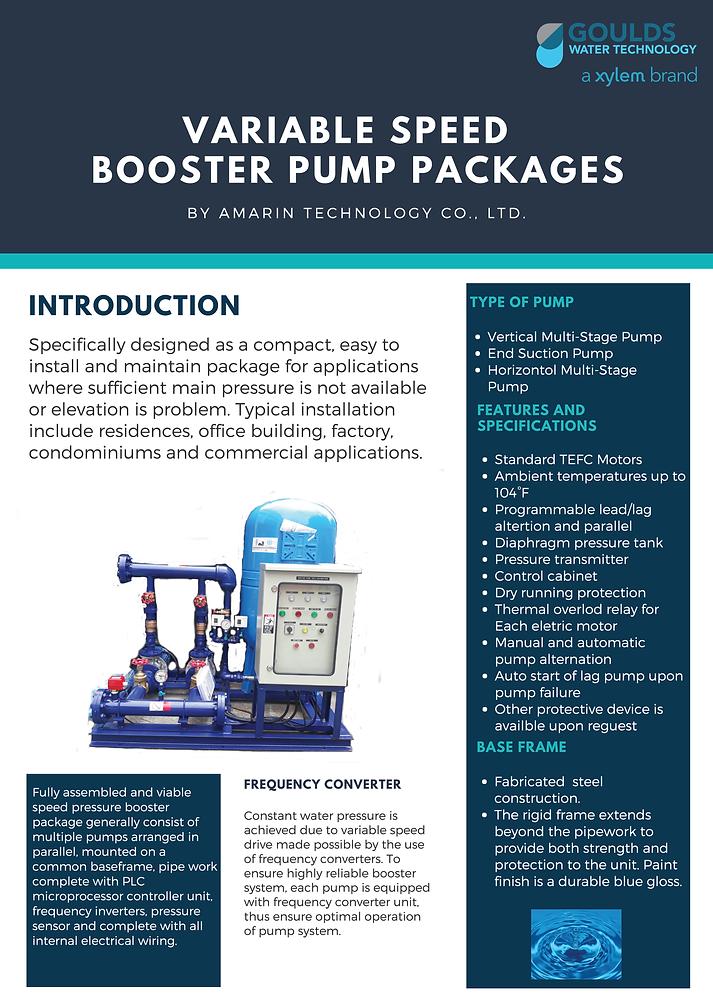 Booster Pump   Amarin Technology Co ,Ltd