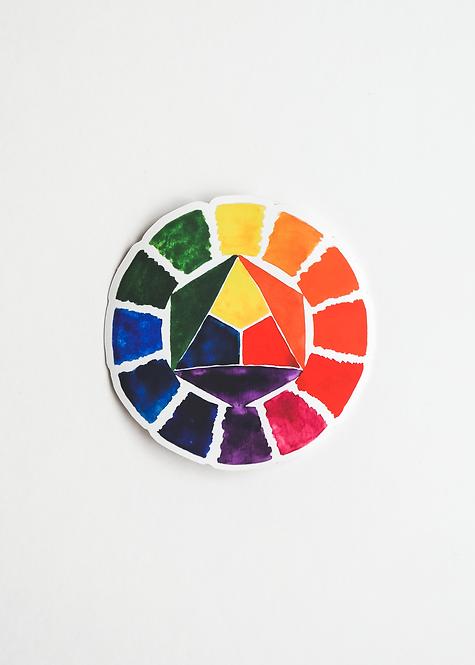 "Sticker ""Farbkreis"" (Ø 9,5 cm)"