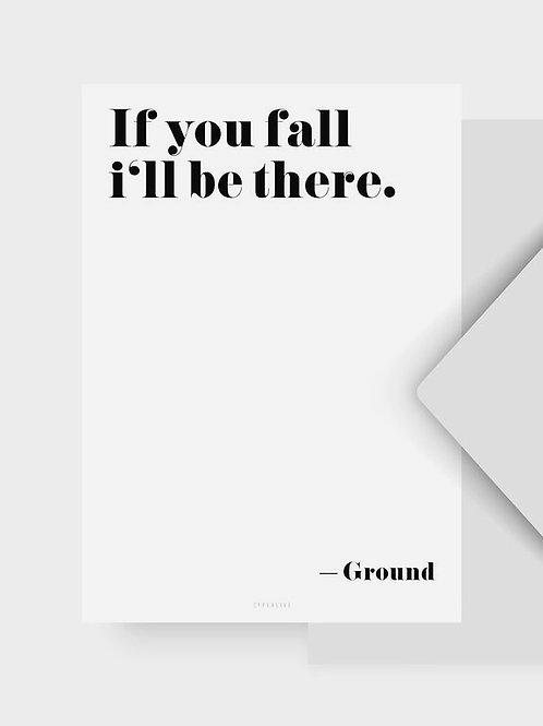 """Postkarte """"Ground"""""""