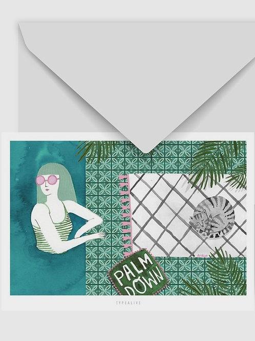 "Postkarte ""Pool Party"""