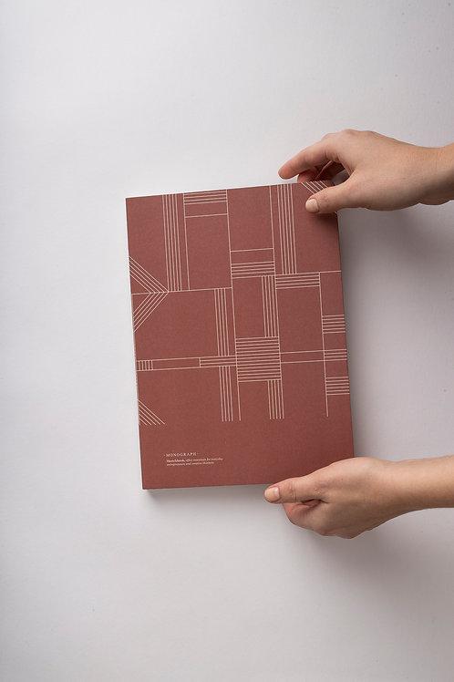 *SALE* Monograph Notizbuch mit genähter Bindung (terracotta)
