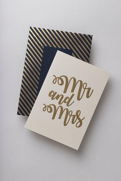"""Grußkarte """"Mr & Mrs"""""""
