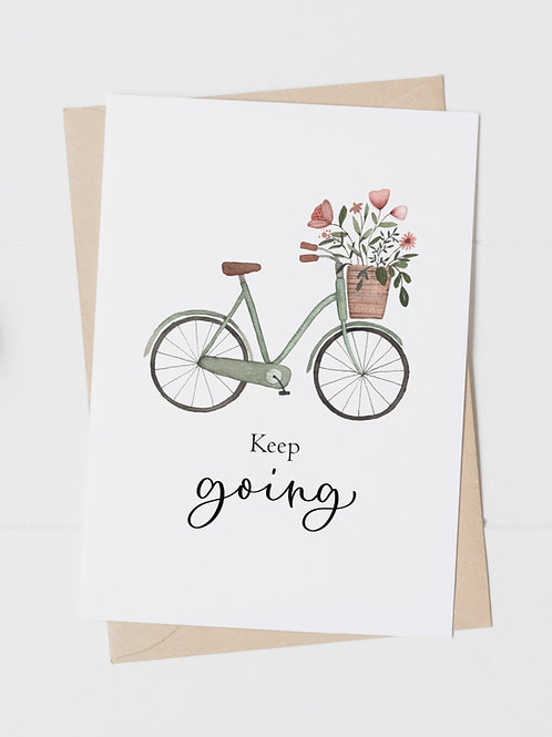 """Postkarte """"Keep going"""""""