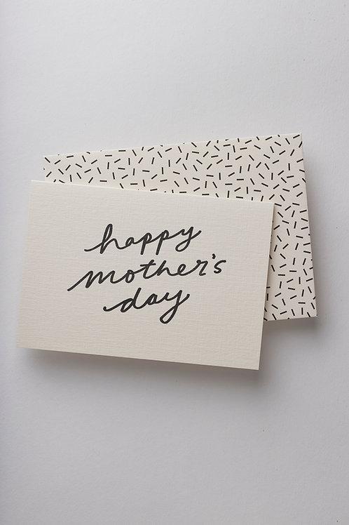 "Grußkarte ""Mother's day script"""