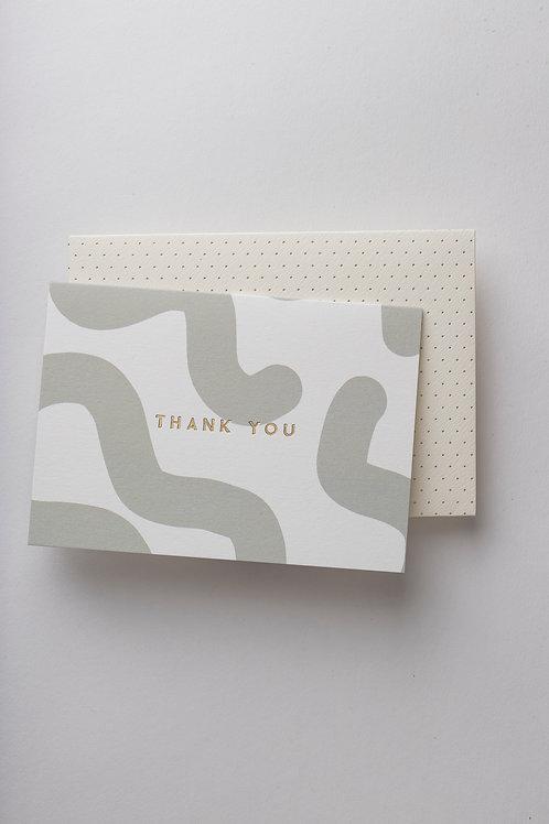 "Grußkarte ""Green Mellow Thank you"""