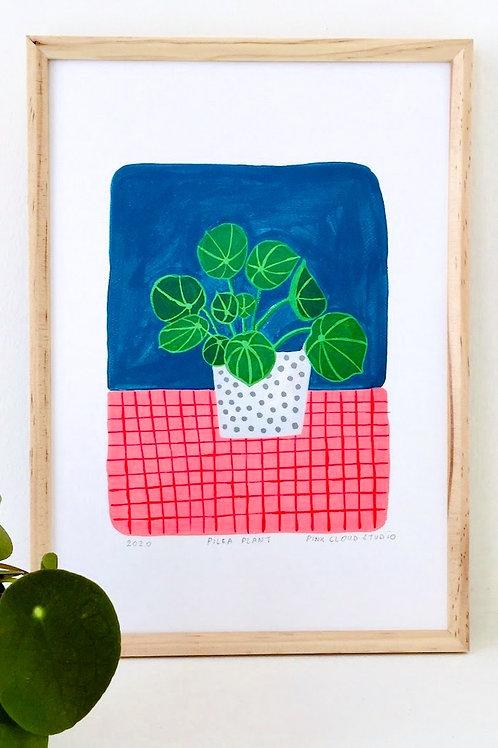 """Art Print """"Pilea Plant"""" (in A5 und A4)"""