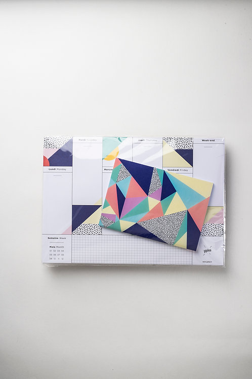 """Set """"VIVA"""": Weekly Desk Planner + Notizbüchlein"""