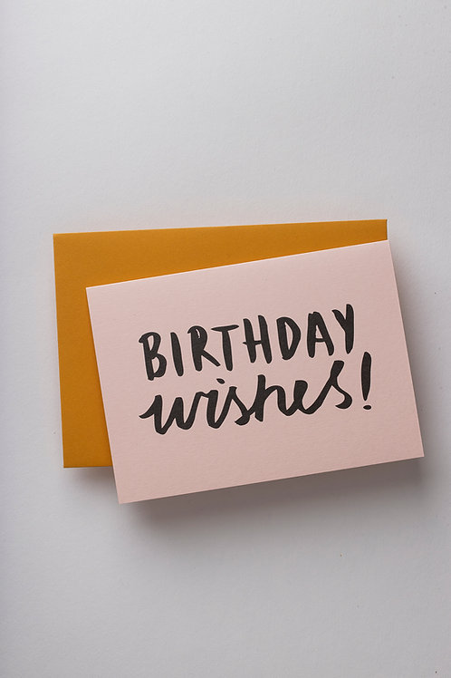 "Grußkarte ""Birthday wishes"""
