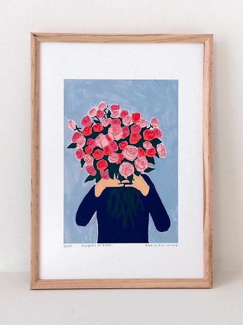"Art Print ""Bouquet of Roses"" (A4)"