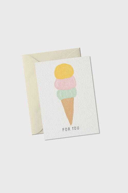 "Mini Grußkarte ""For You Ice Cream"""