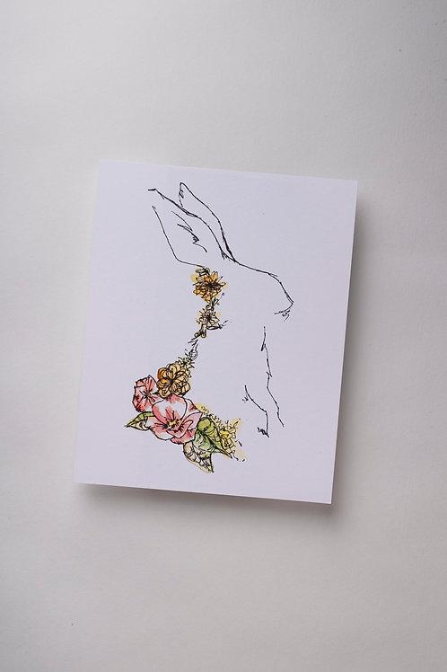 "Art Print ""Bunny Lines"" (8x10'')"