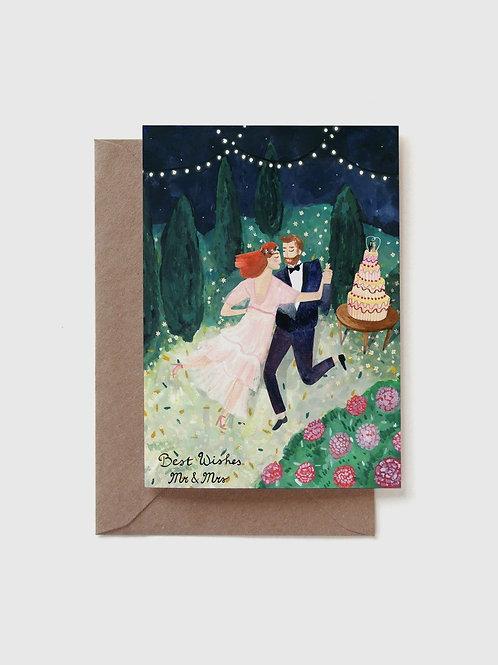 "Grußkarte ""Wedding dance couple"""