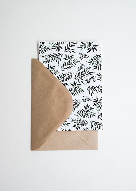 """Card """"Greenery"""" mit Umschlag"""