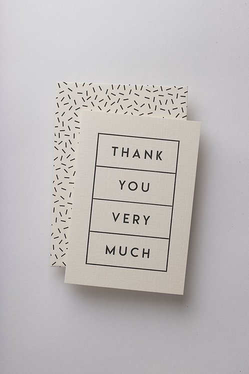 "Grußkarte ""Thank you boxed"""