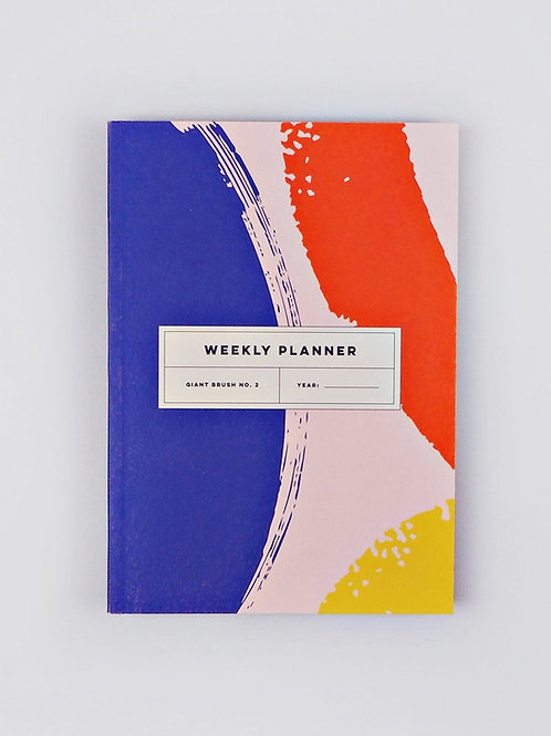 "Weekly Planner Book ""Giant Brush No. 2"" (A5)"