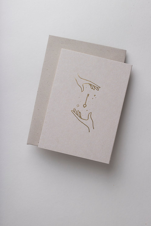"Grußkarte ""The Key"" (Letterpress)"