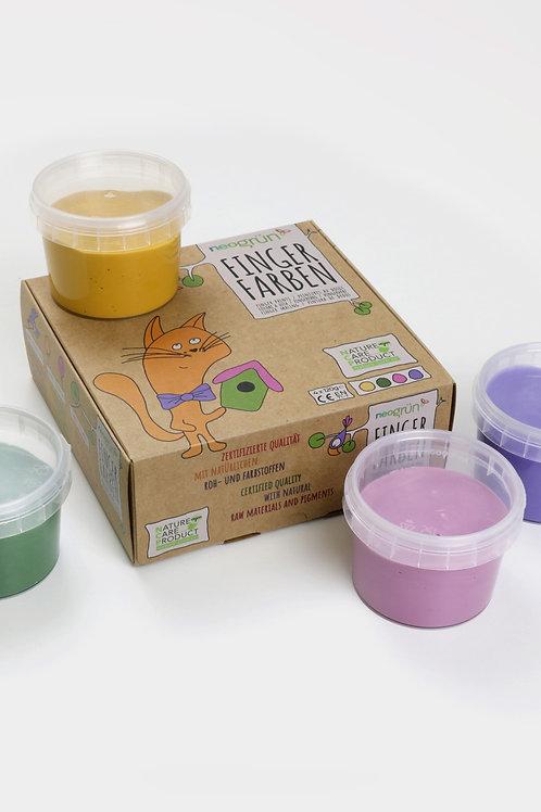 "Fingerfarben 4er Set ""Luka"" (gelb, grün, rosa, violett)"