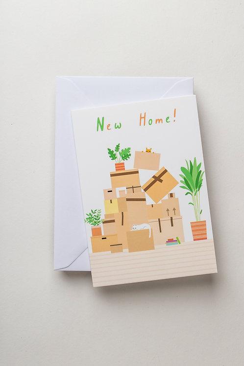"Grußkarte ""New Home"""