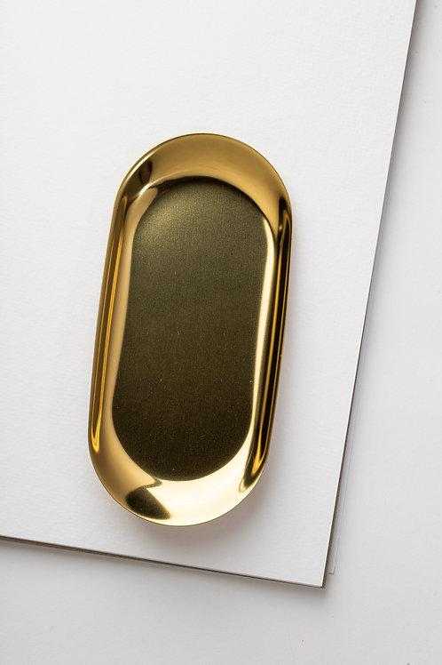 """Desk Organizer """"Schale"""" (gold)"""